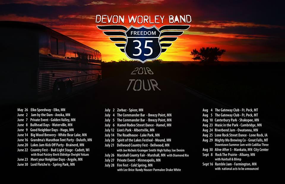 Devon Worley, Devon Worley Band, Freedom 35, Freedom 35 tour,